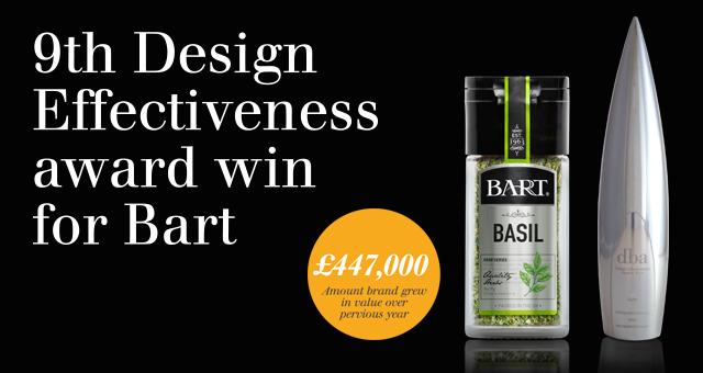 9th Design Effectiveness award win for Bart