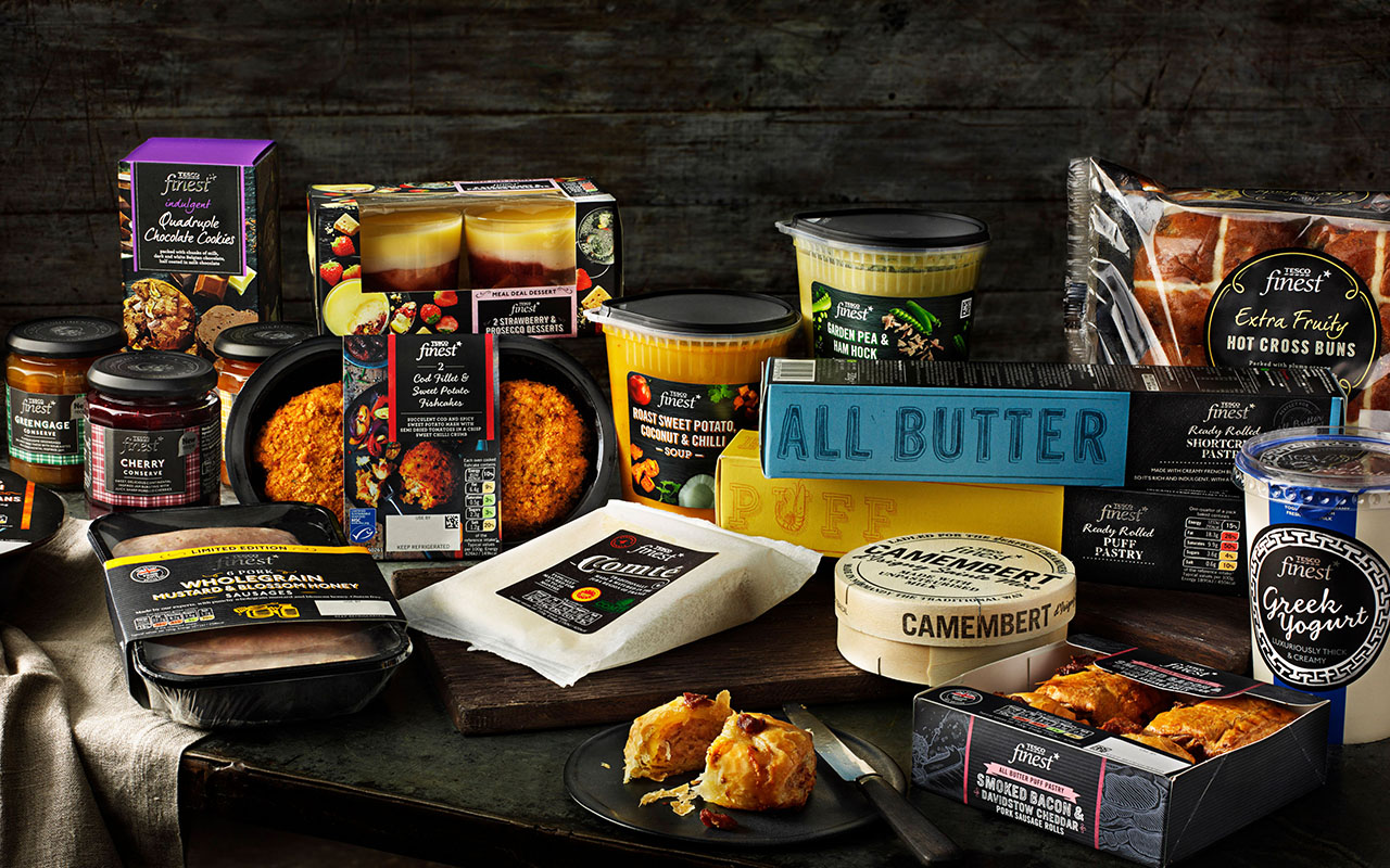 Tesco Finest* Food Range redesign and rebrand