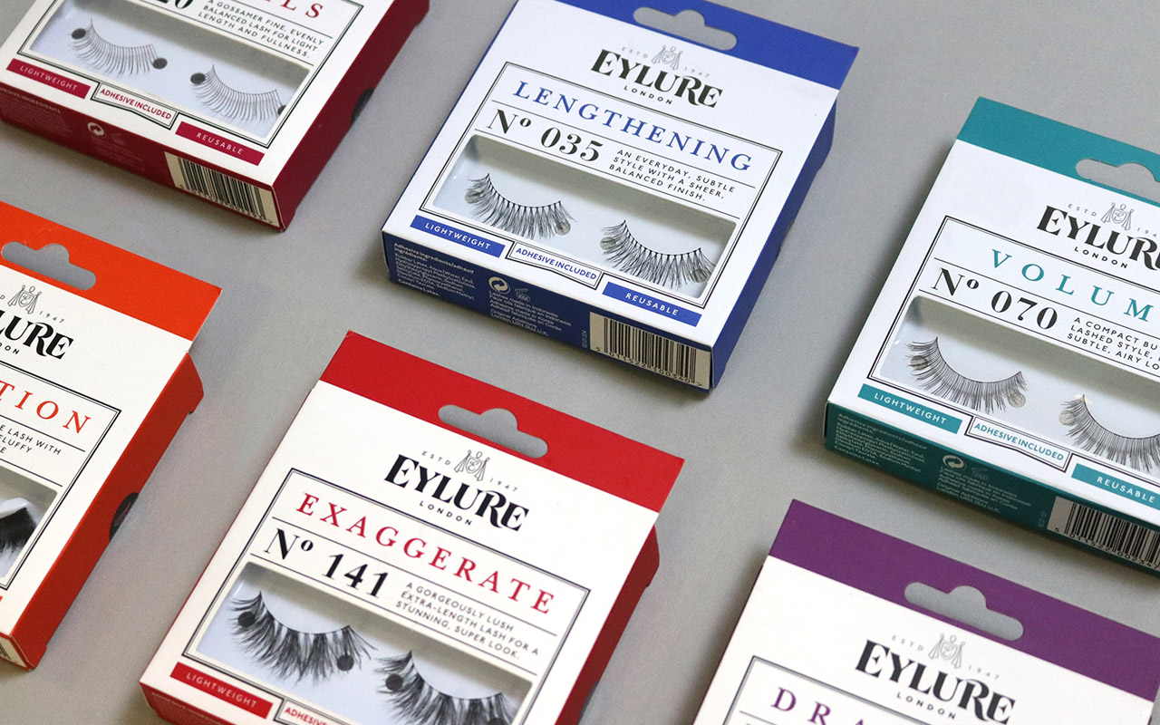 Eylure Core Range new brand identity and packaging