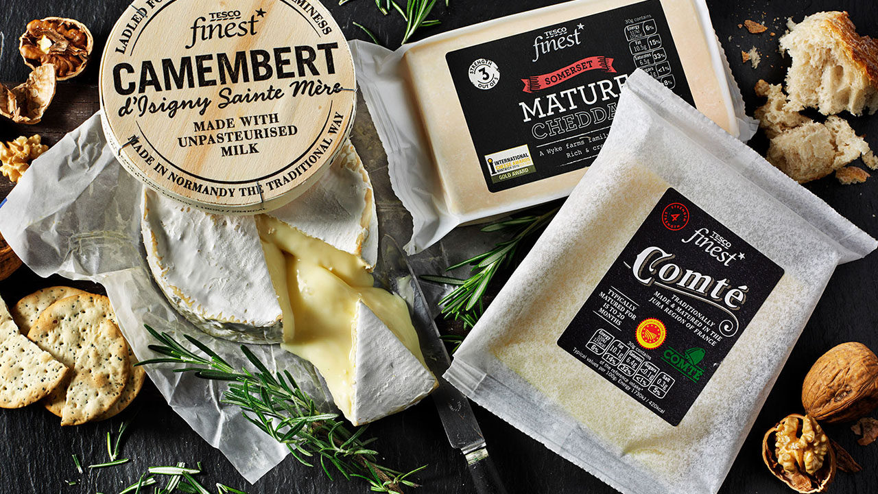 Tesco Finest Cheese redesign and rebrand