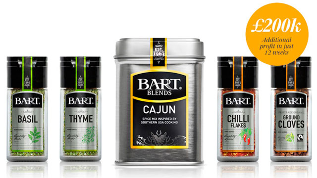 A selection of Bart Blends spices
