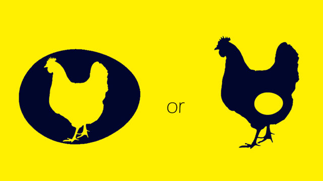 Chicken or the egg image