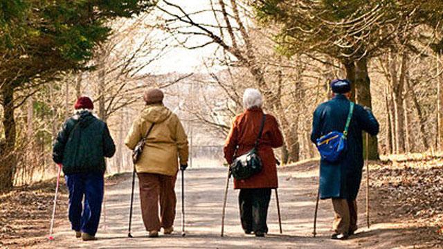 Four older people