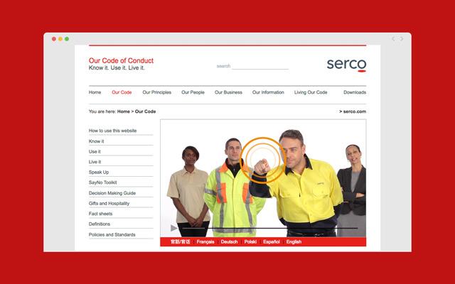 Serco Code of Conduct Website