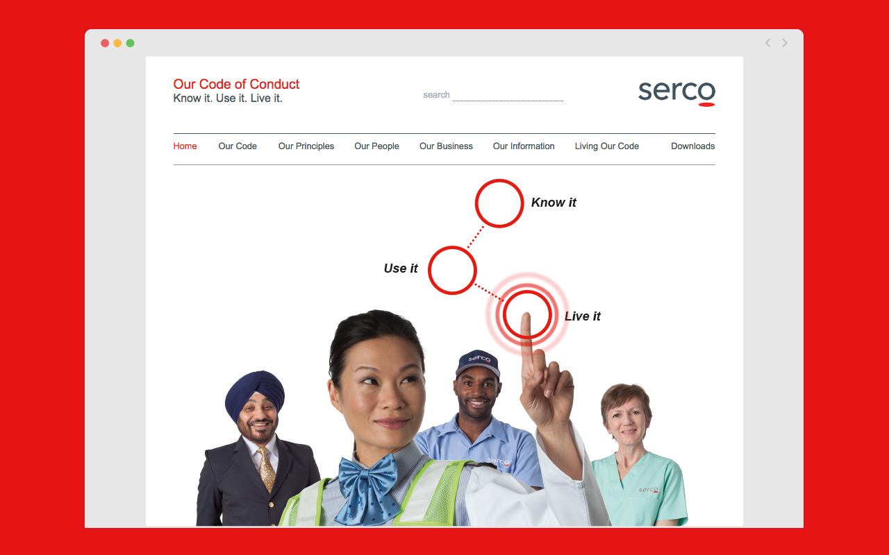Serco Code of Conduct Website