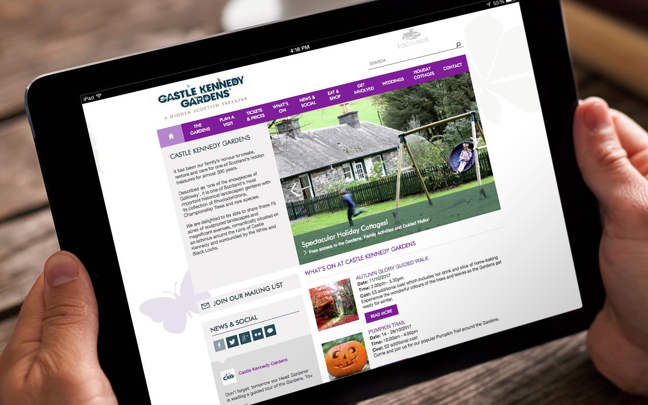 Castle Kennedy Gardens Website iPad