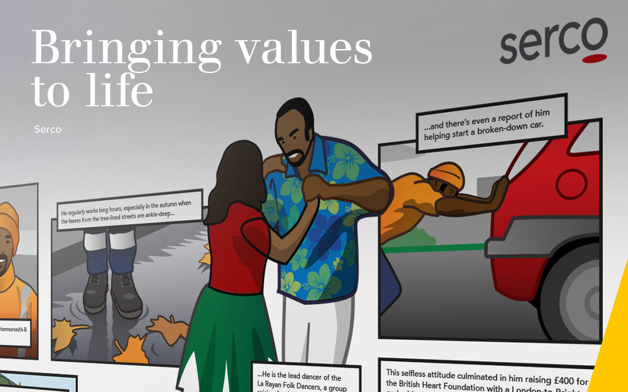 Bringing values  to life - Serco