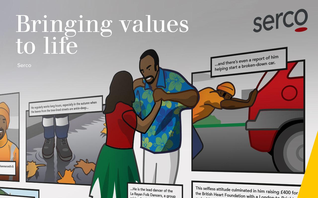 Bringing values  to life - Serco
