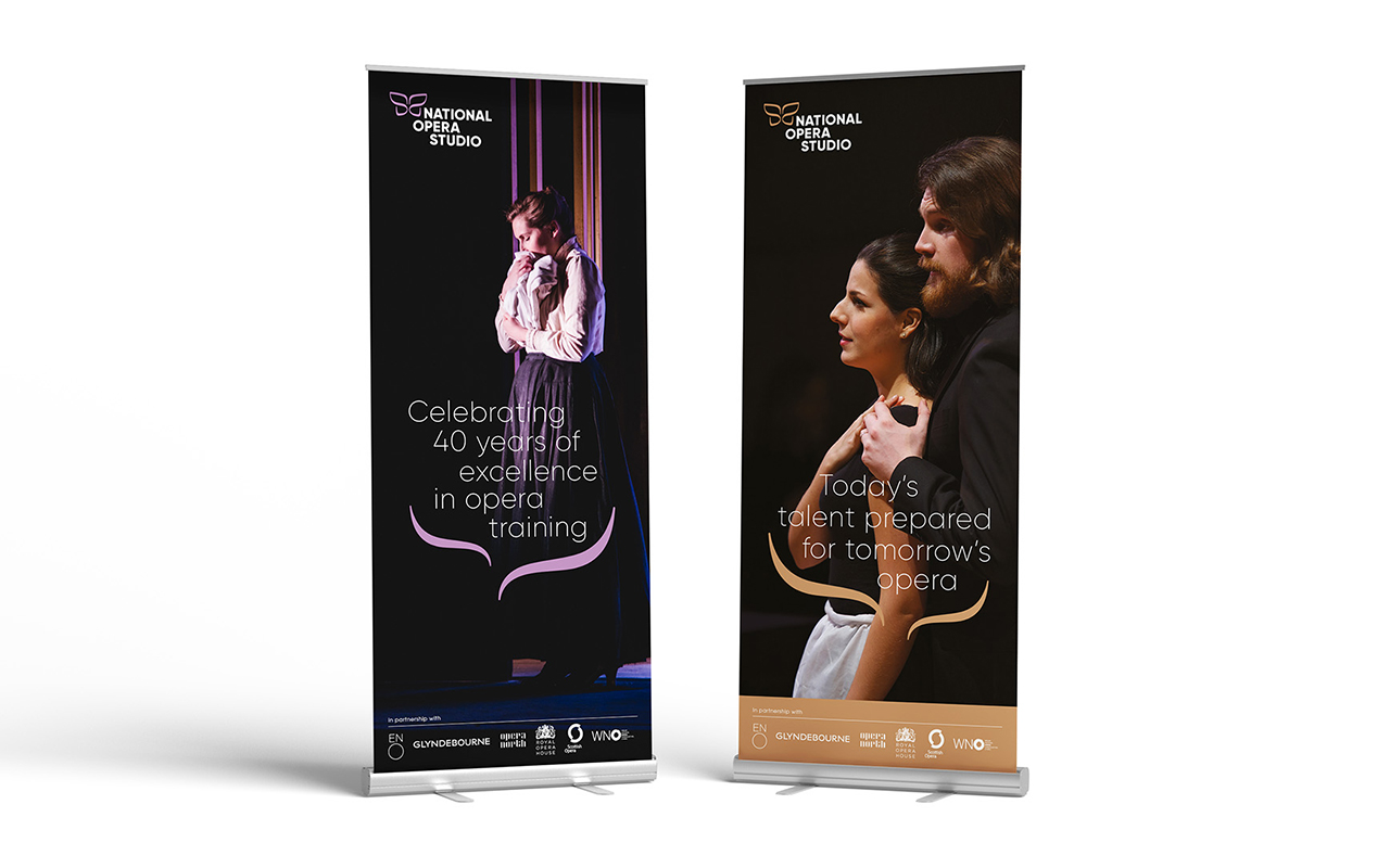 NOS new brand identity banners