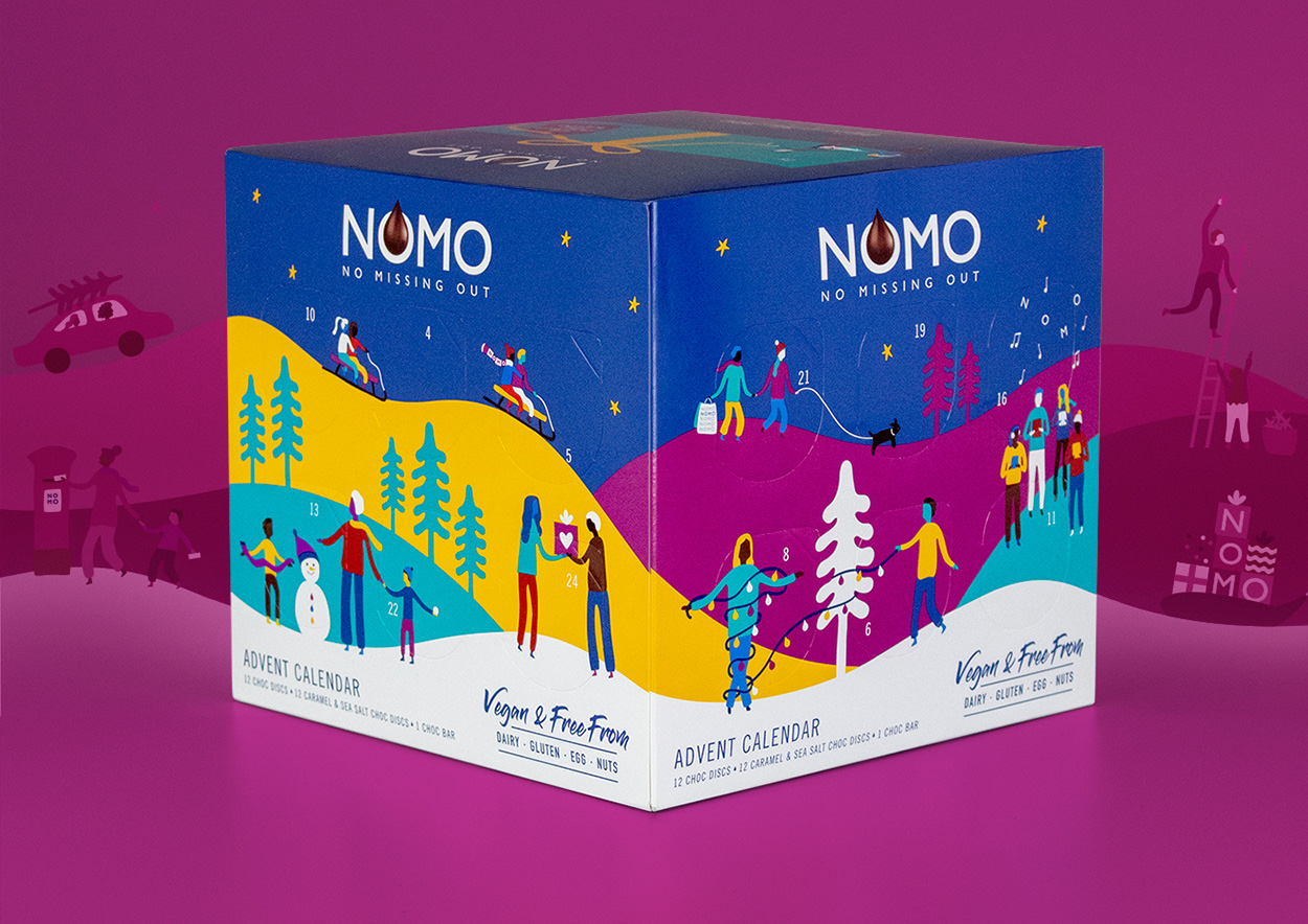 Nomo holiday chocolate pack